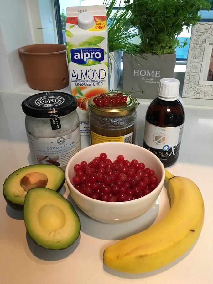 punaherukka smoothie