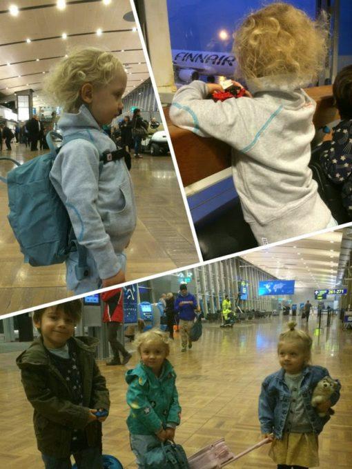 lentokentta lasten kanssa